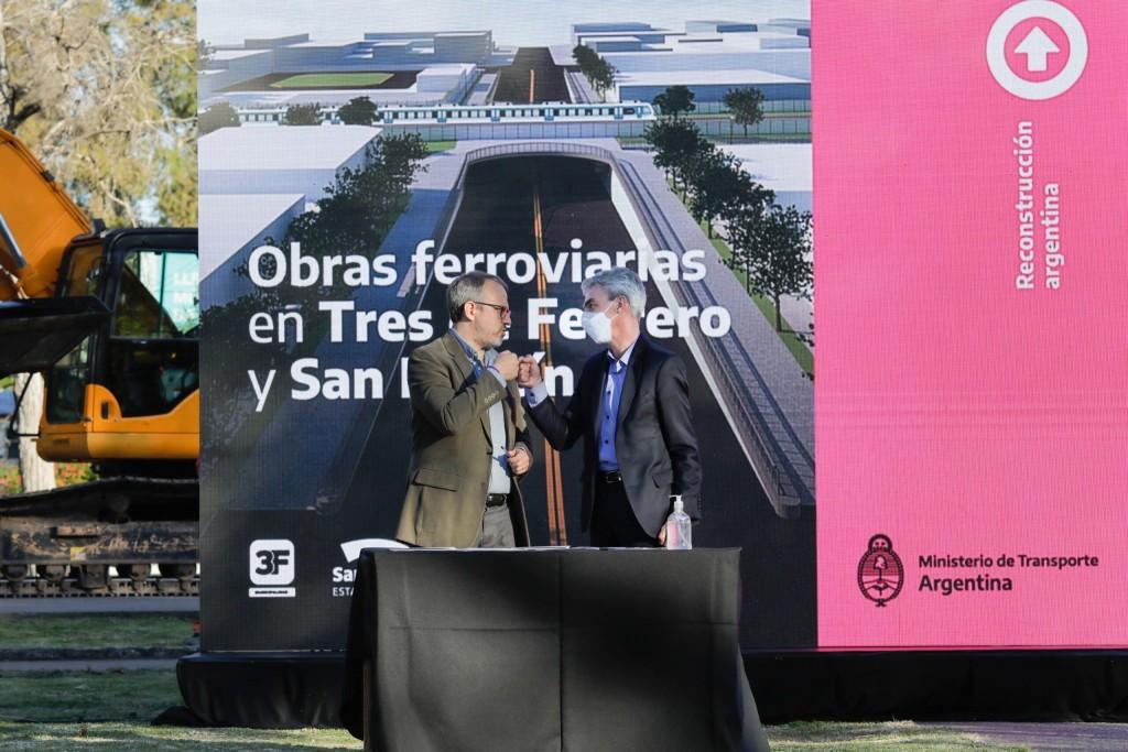 Mario Meoni anunció obras para San Martín y Tres de Febrero: