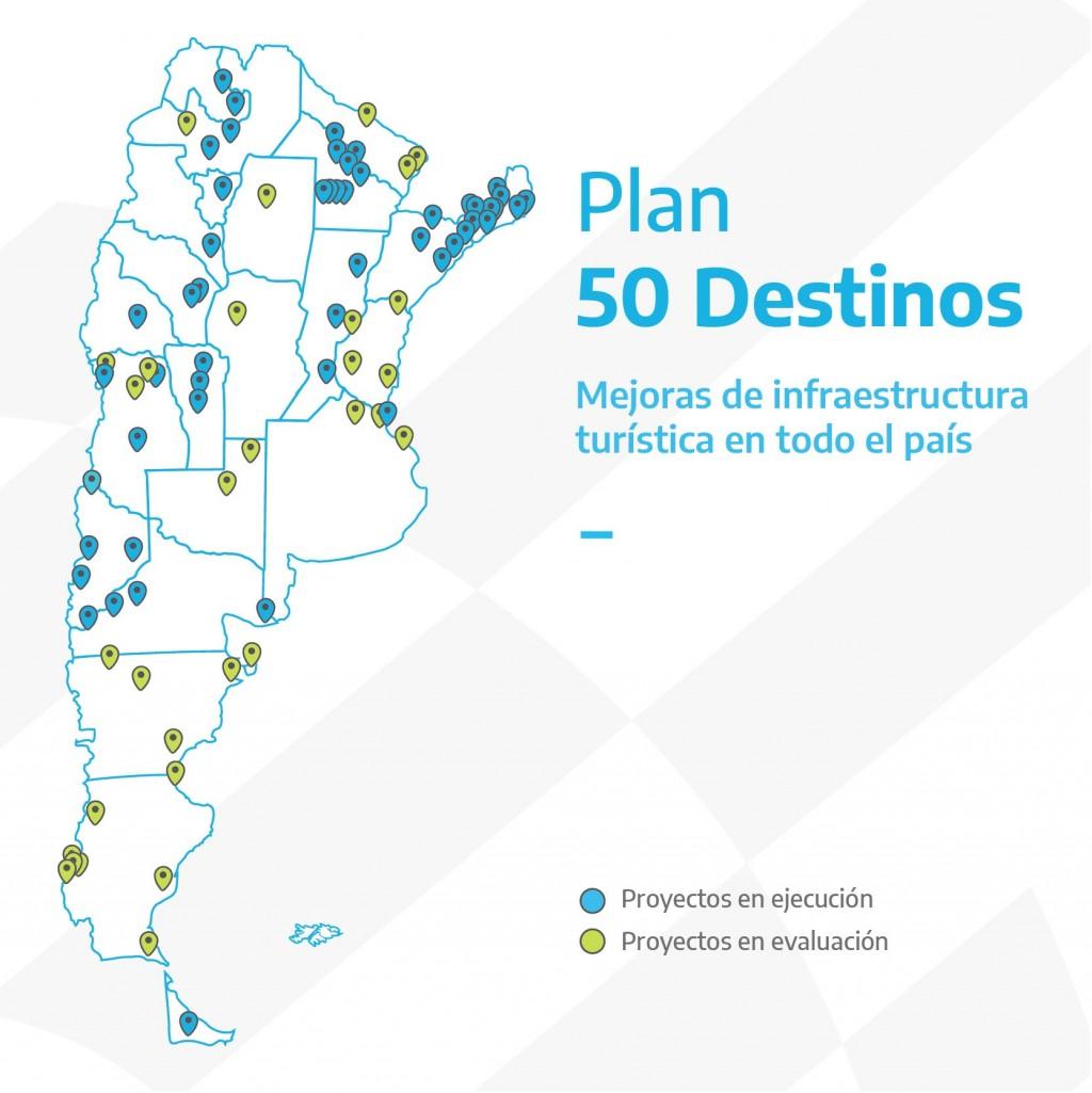 50 Destinos: avanza el plan de infraestructura turística del Estado nacional en todas las provincias del país