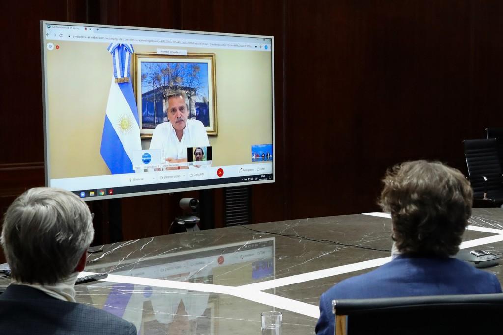 El presidente Alberto Fernández mantuvo por medio de una videoconferencia una reunión con representantes de la empresa Fortescue Metals Group
