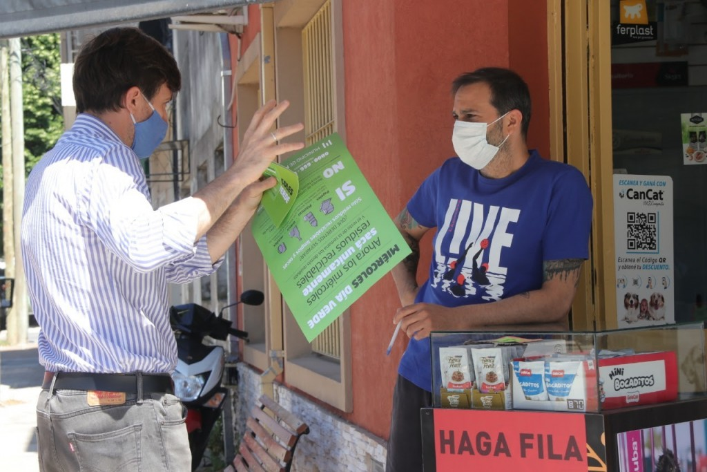Comenzó la campaña informativa sobre el Día Verde en Villa Sarmiento