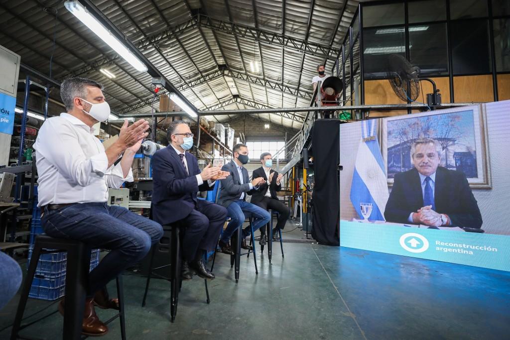 El presidente Alberto Fernández encabezó el acto de lanzamiento del Plan de Reactivación e Inclusión Financiera para PyMEs, por 57.500 millones de pesos.