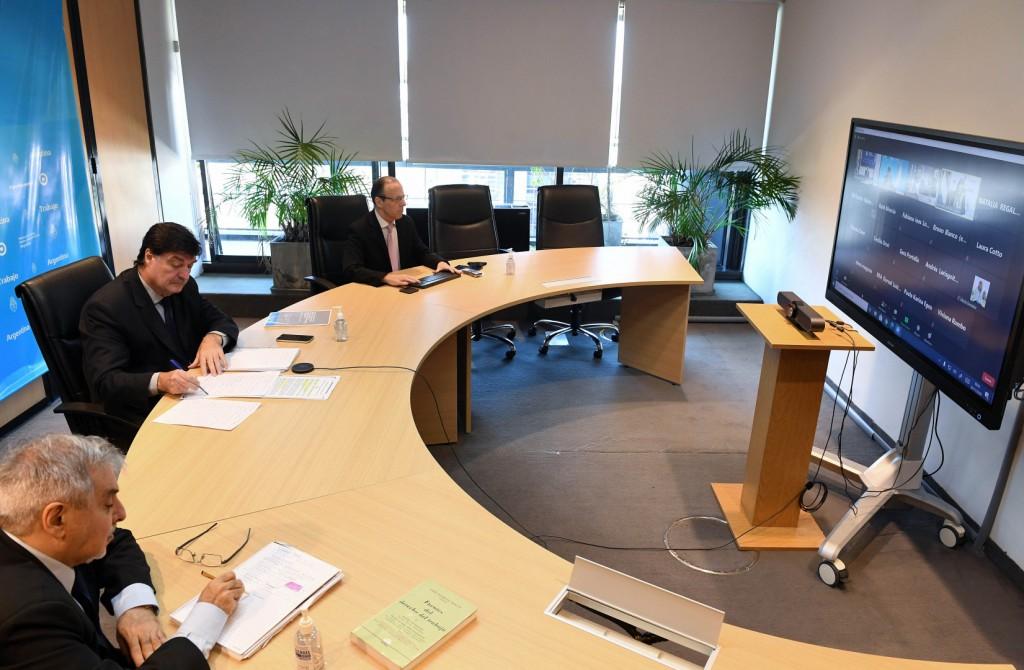 Marcelo Bellotti participó de una reunión con Ministros de Trabajo del MERCOSUR