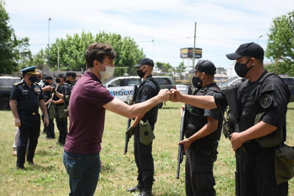 Lucas Ghi recorrió las nuevas instalaciones para efectivos de la Policía Federal