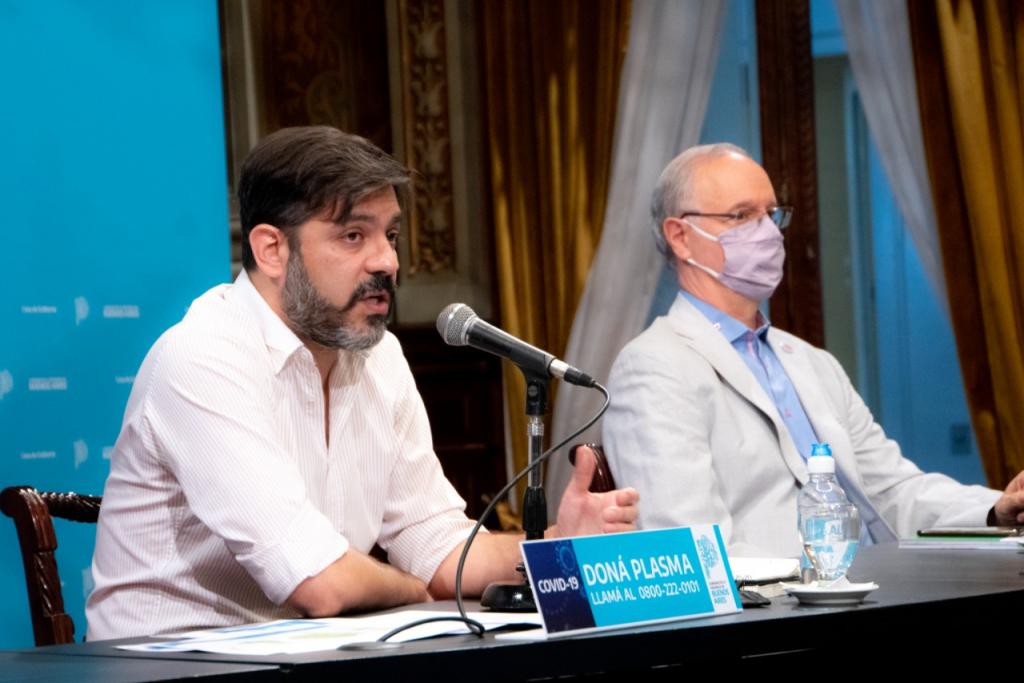 Carlos Blanco y Daniel Gollan dierón la actualización sobre la situación epidemiológica y el esquema de fases en la provincia