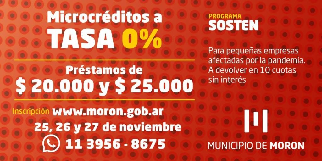 El Municipio de Morón lanza la tercera etapa de créditos a tasa cero para pequeños comercios afectados por la pandemia
