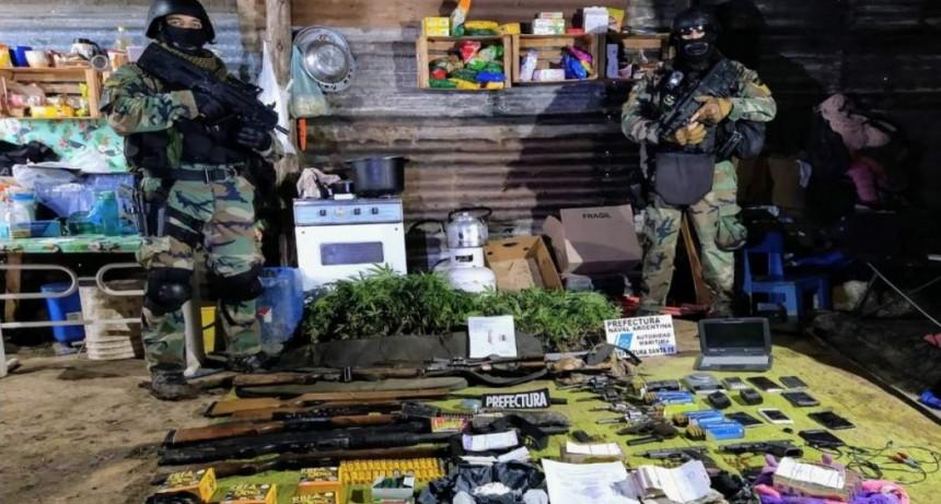 Megaoperativo en Santa Fe: Prefectura desbarató una organización que vendía droga