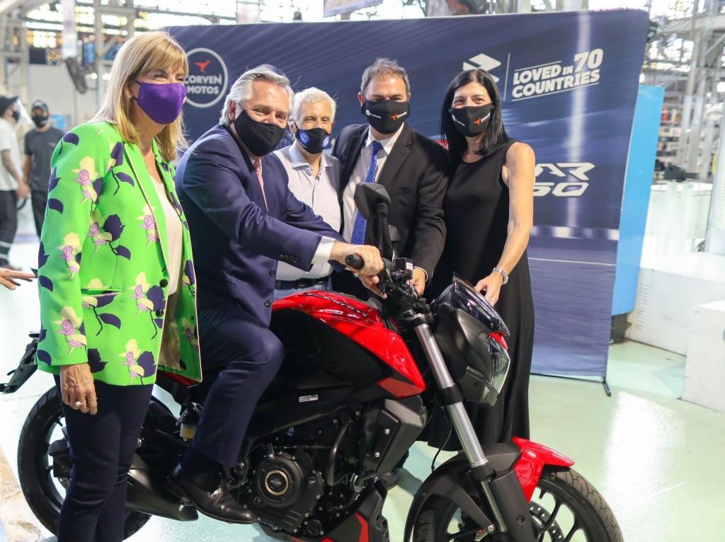 El Presidente participó del anuncio de inversiones de Corven Motors Argentina