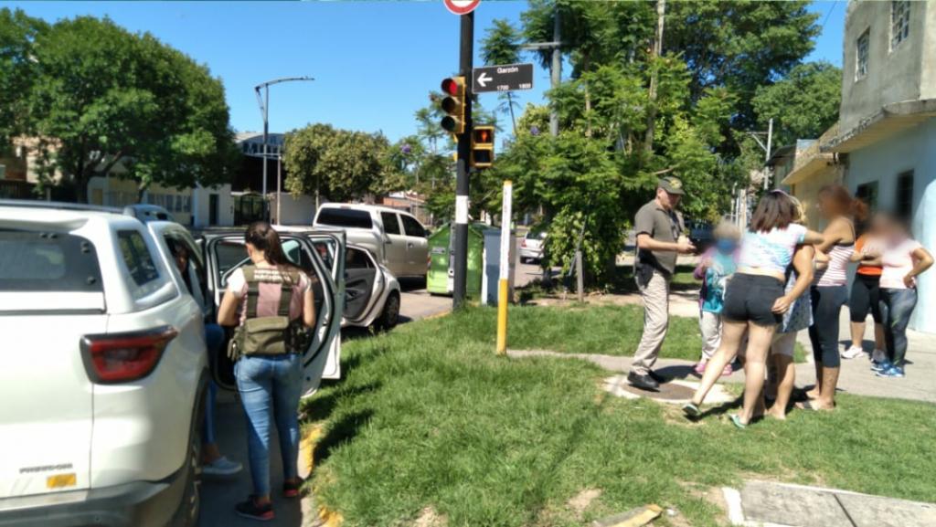 Gendarmería rescató a dos menores de edad en Santa Fe
