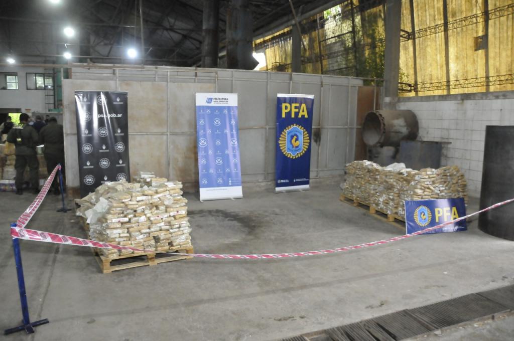 El Ministerio de Seguridad incineró más de mil kilogramos de drogas ilegales