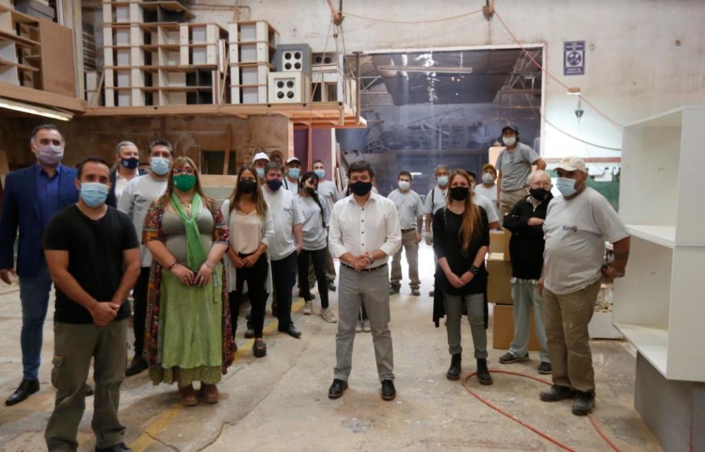 Daniel Arroyo visitó la cooperativa La Naciona