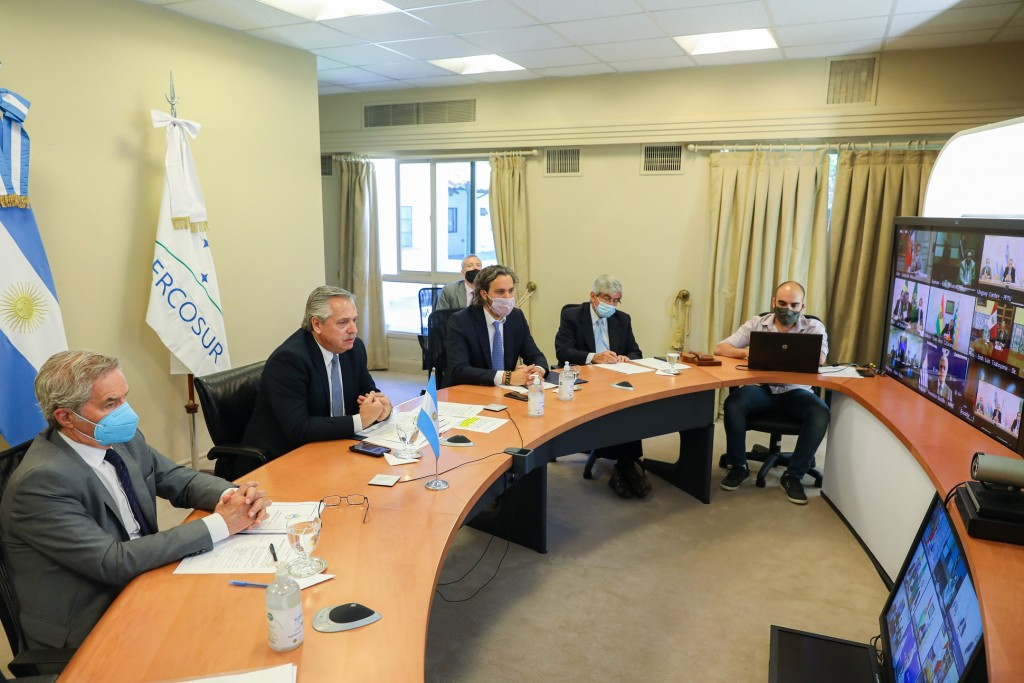 El presidente Alberto Fernández participó de la Cumbre Virtual de Jefes de Estado del Mercosur y de los Estados Asociados