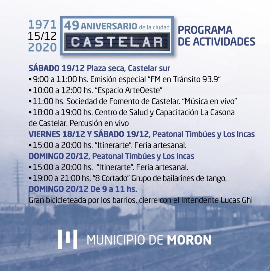 El Municipio organiza actividades para celebrar los 49 años de Castelar