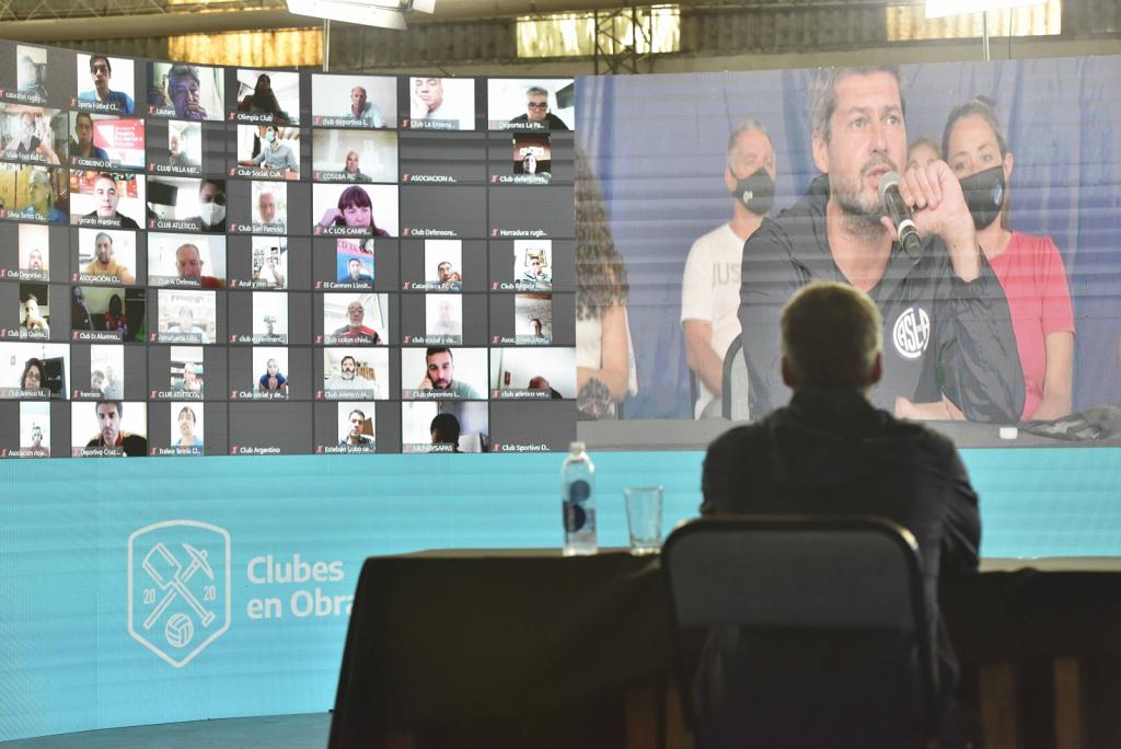 """Lammens y Guzmán repasaron los resultados del programa """"Clubes en Obra"""""""