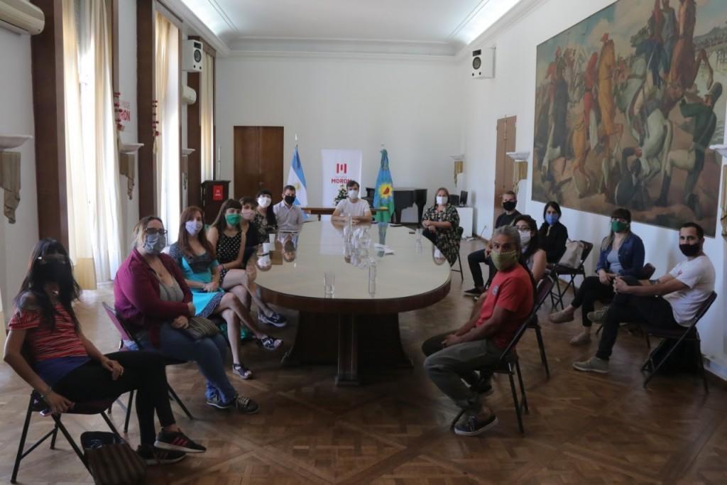 Lucas Ghi recibió a asociaciones que fueron beneficiarias del Programa Puntos de Cultura