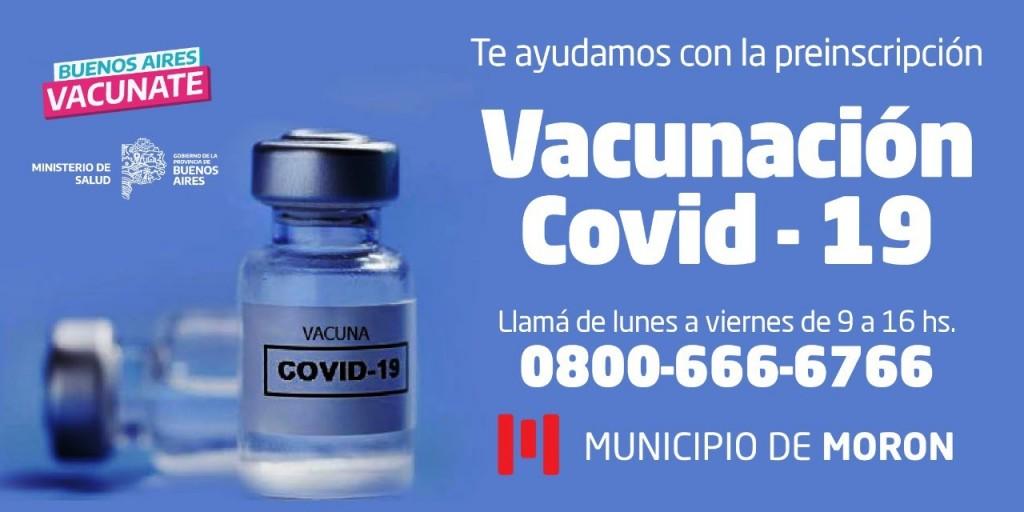 El Municipio de Morón asistirá a sus vecinos en la preinscripción para recibir la vacuna contra el Covid-19